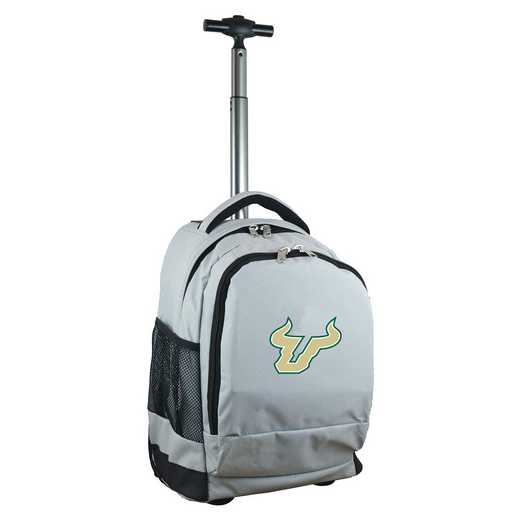 CLSFL780-GY: NCAA South Florida Bulls Wheeled Premium Backpack